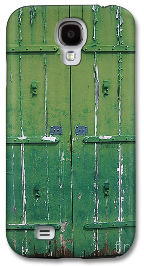 Architecture Galaxy S4 Case featuring the photograph The Green Door by Debbi Granruth