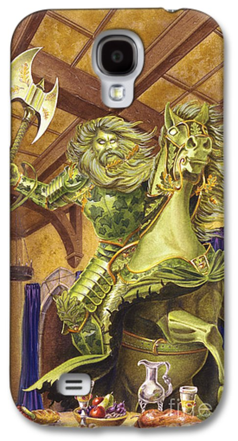 Fine Art Galaxy S4 Case featuring the painting The Green Knight by Melissa A Benson
