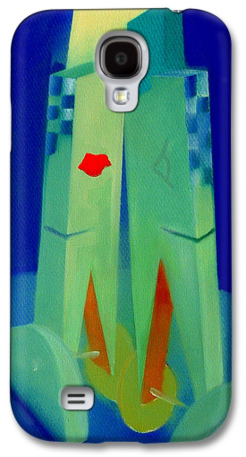 Blue Galaxy S4 Case featuring the painting The Kiss by Charles Stuart