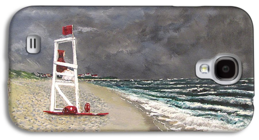 Seascape Galaxy S4 Case featuring the painting The Last Lifeguard by Jack Skinner