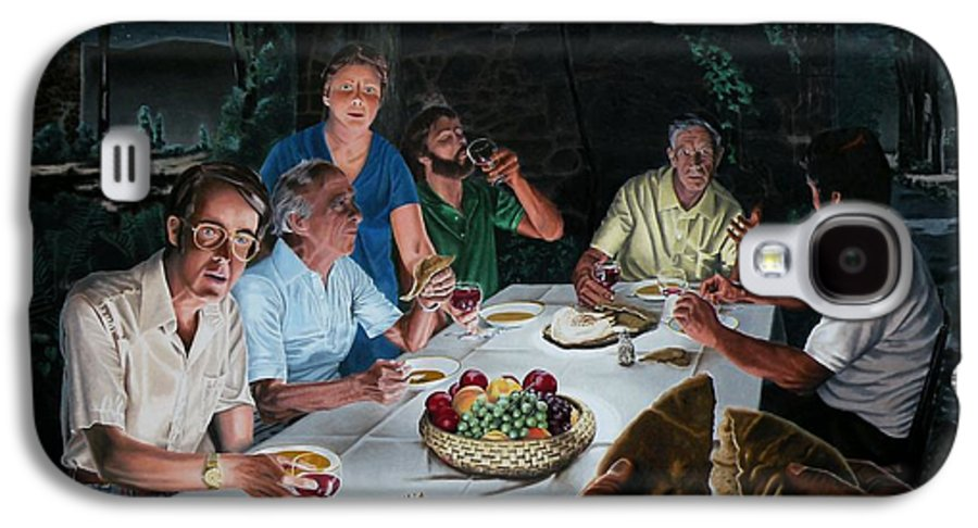 Last Supper Galaxy S4 Case featuring the painting The Last Supper by Dave Martsolf