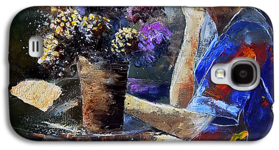 Girl Nude Galaxy S4 Case featuring the painting The Letter by Pol Ledent