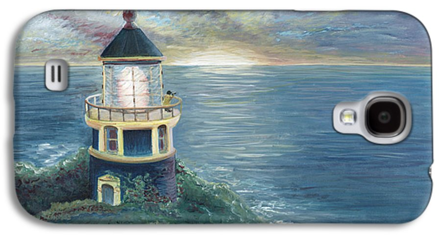 Lighthouse Galaxy S4 Case featuring the painting The Lighthouse by Nadine Rippelmeyer