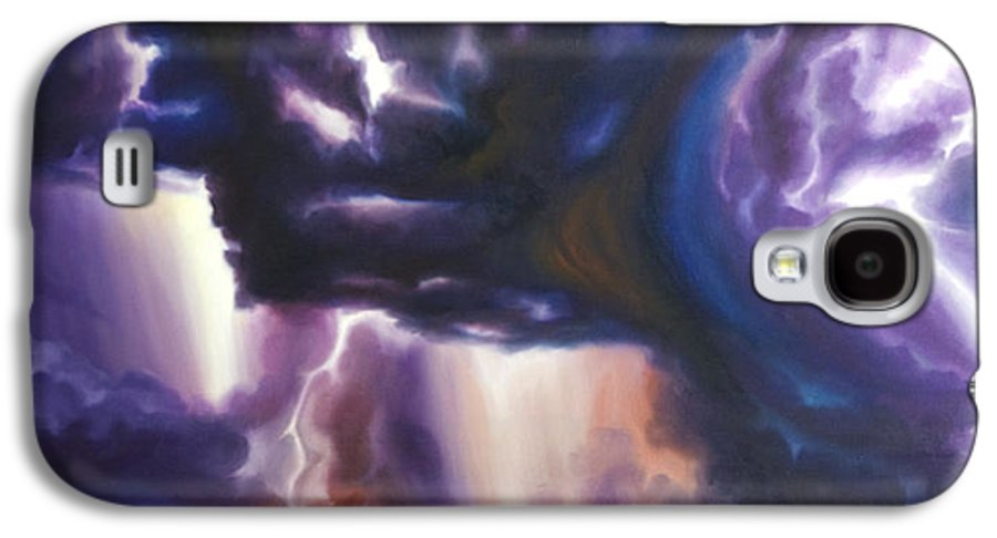 Tempest Galaxy S4 Case featuring the painting The Lightning by James Christopher Hill