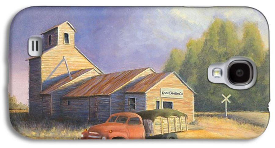 Nebraska Galaxy S4 Case featuring the painting The Lisco Elevator by Jerry McElroy