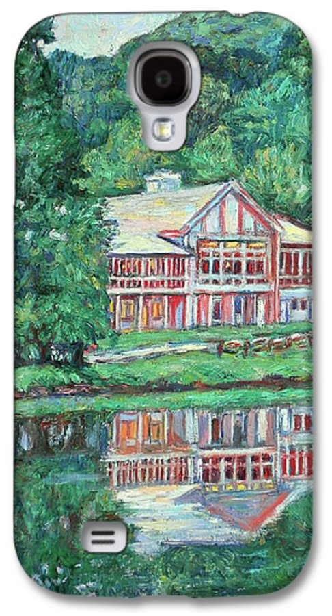 Lodge Paintings Galaxy S4 Case featuring the painting The Lodge At Peaks Of Otter by Kendall Kessler