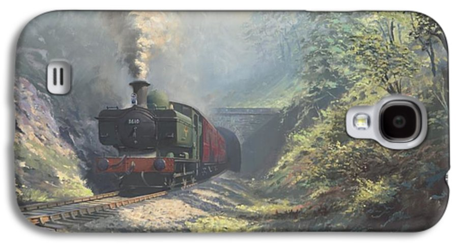 Steam Galaxy S4 Case featuring the painting The Merthyr Tunnel by Richard Picton