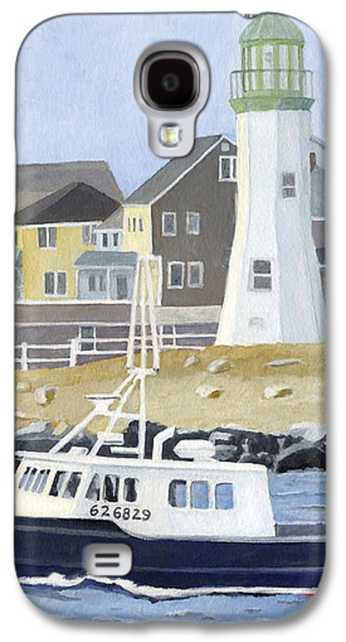 Fishingboat Galaxy S4 Case featuring the painting The Michael Brandon by Dominic White