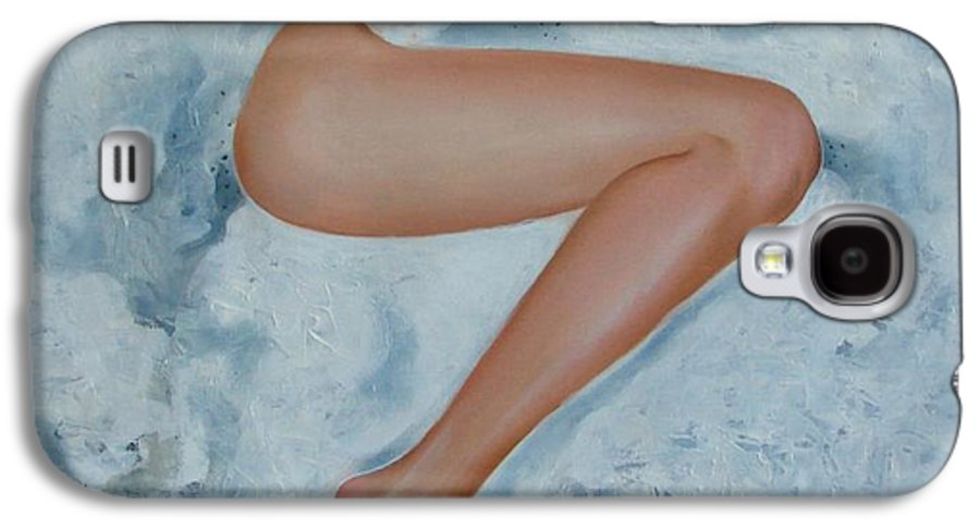 Art Galaxy S4 Case featuring the painting The Milk Bath by Sergey Ignatenko