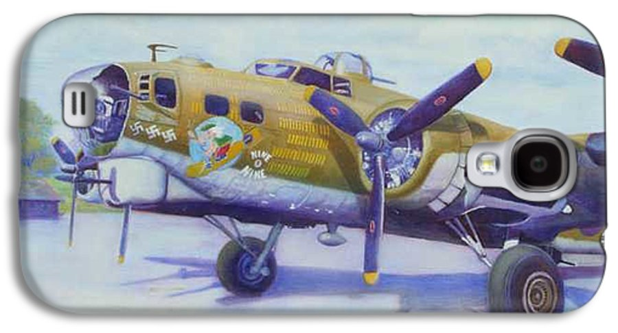 B-17 Galaxy S4 Case featuring the painting The Nine O Nine by Scott Robertson
