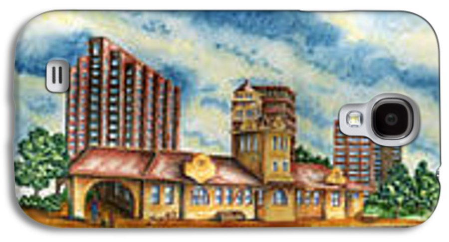 Cityscape Galaxy S4 Case featuring the painting The Old Train Station  by Ragon Steele