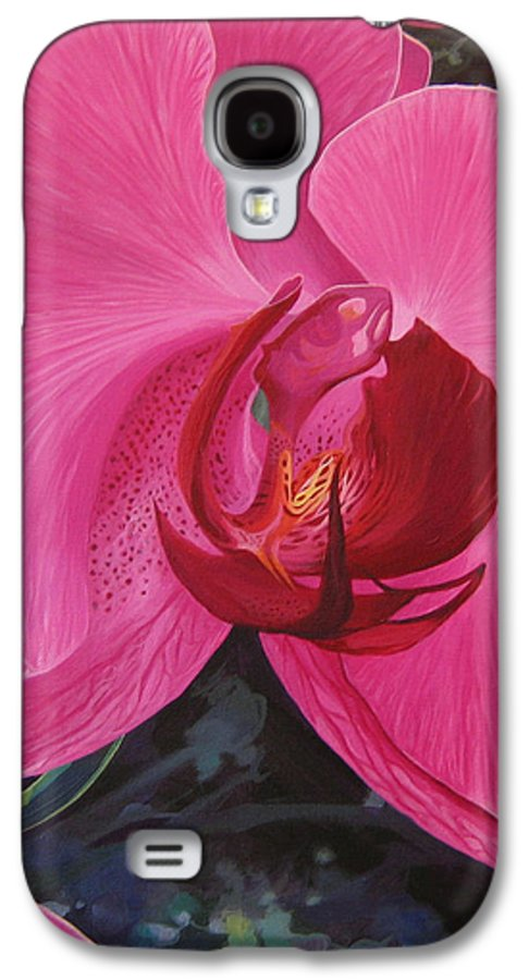 Orchid Galaxy S4 Case featuring the painting The Orchid In San Juan by Hunter Jay