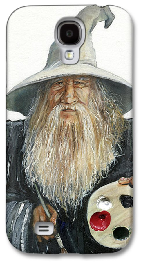Wizard Galaxy S4 Case featuring the painting The Painting Wizard by J W Baker
