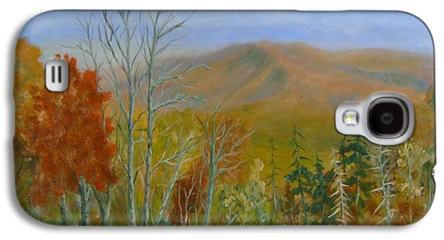 Mountains; Trees; Fall Colors Galaxy S4 Case featuring the painting The Parkway View by Ben Kiger