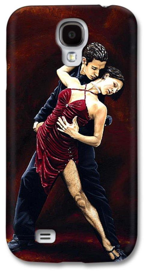 Tango Galaxy S4 Case featuring the painting The Passion Of Tango by Richard Young