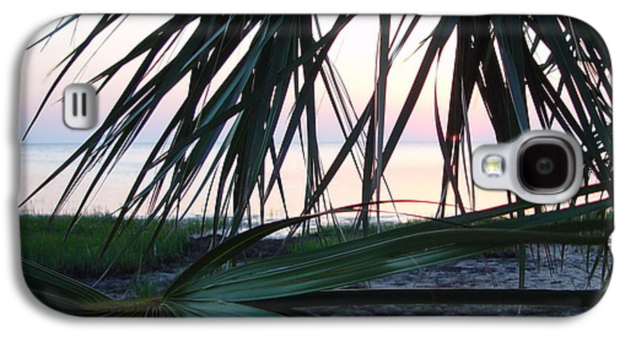 Palms Galaxy S4 Case featuring the painting The Peeking Palms by Debbie May