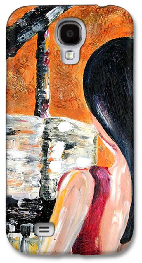 Piano Galaxy S4 Case featuring the painting The Pianist by Maryn Crawford