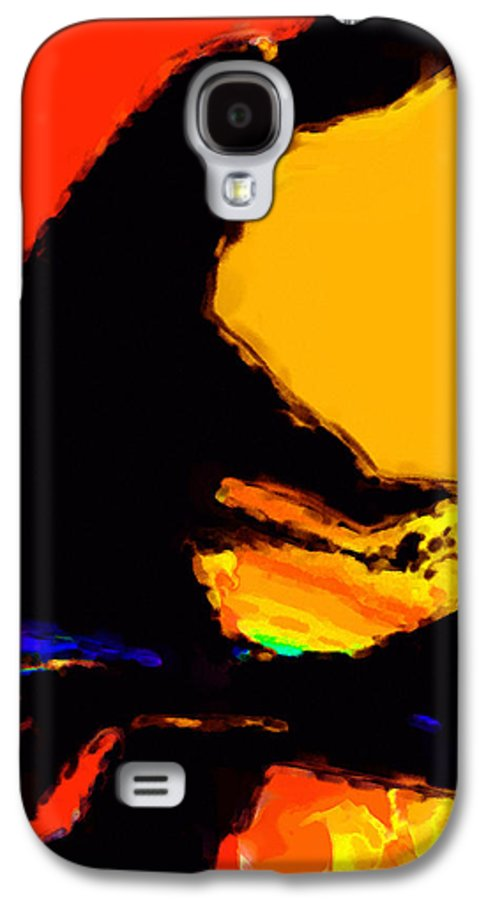 Abstract Galaxy S4 Case featuring the digital art The Pianist by Richard Rizzo