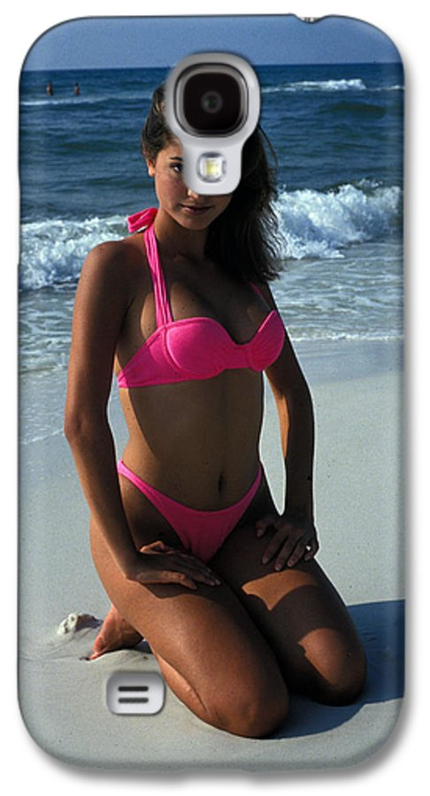 Attractive Galaxy S4 Case featuring the photograph The Pink Bikini by Carl Purcell