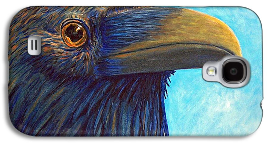 Raven Galaxy S4 Case featuring the painting The Prophet by Brian Commerford