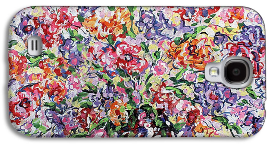 Flowers Galaxy S4 Case featuring the painting The Rainbow Flowers by Leonard Holland
