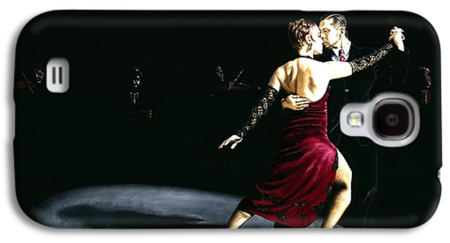 Tango Galaxy S4 Case featuring the painting The Rhythm Of Tango by Richard Young