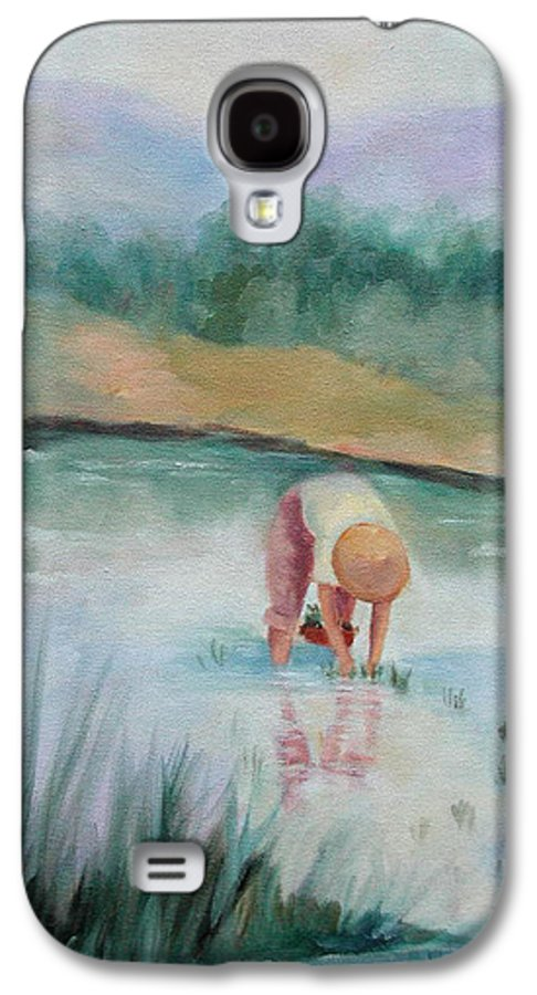Figurative Galaxy S4 Case featuring the painting The Rice Planter by Ginger Concepcion