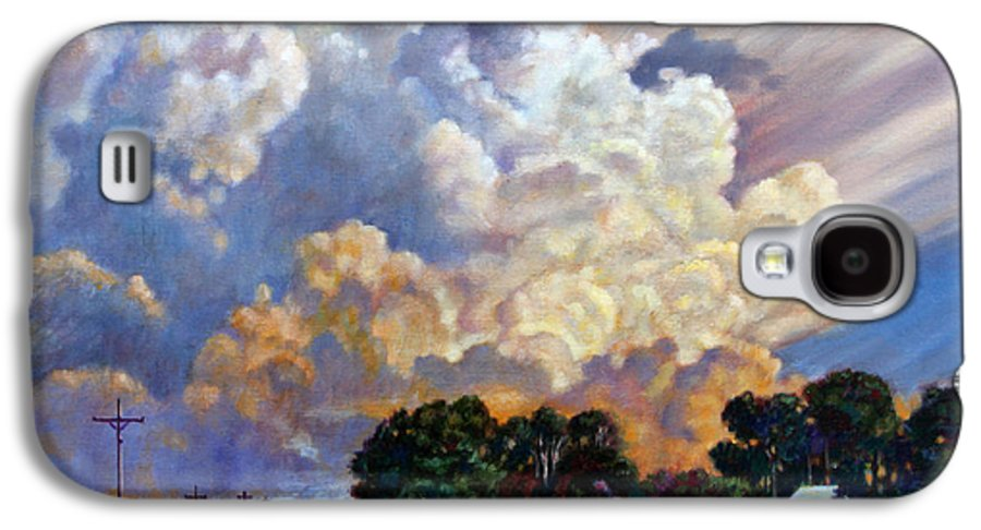 Landscape Galaxy S4 Case featuring the painting The Road Home by John Lautermilch