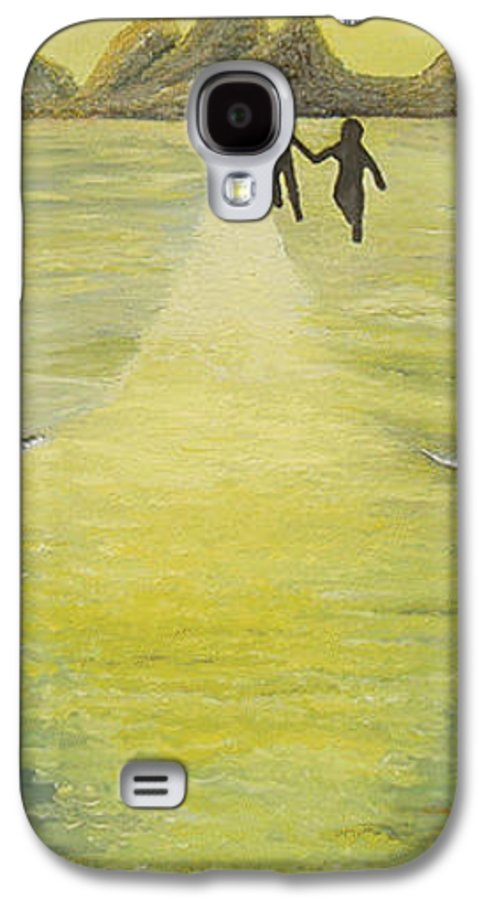 Soul Galaxy S4 Case featuring the painting The Road In The Ocean Of Light by Karina Ishkhanova
