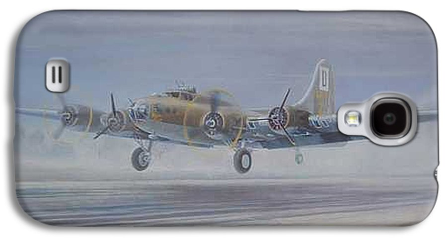 The Only Survivor Of The 100th Bomb Group On The October 10 Galaxy S4 Case featuring the painting The Royal Flush Comes Home by Scott Robertson