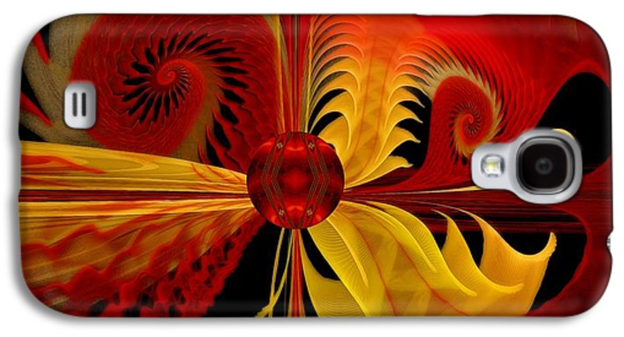 Fractal Galaxy S4 Case featuring the digital art The Soul Sees What Is Within by Gayle Odsather