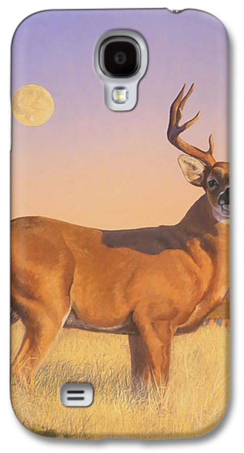 Deer Galaxy S4 Case featuring the painting The Stag by Howard Dubois