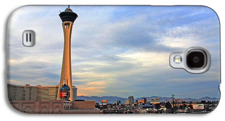 Photography Galaxy S4 Case featuring the photograph The Stratosphere In Las Vegas by Susanne Van Hulst