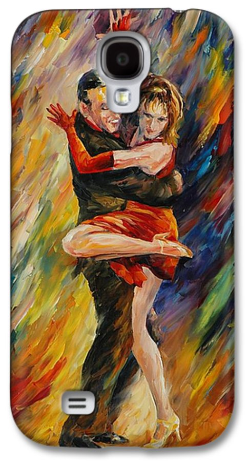 Dance Galaxy S4 Case featuring the painting The Sublime Tango by Leonid Afremov