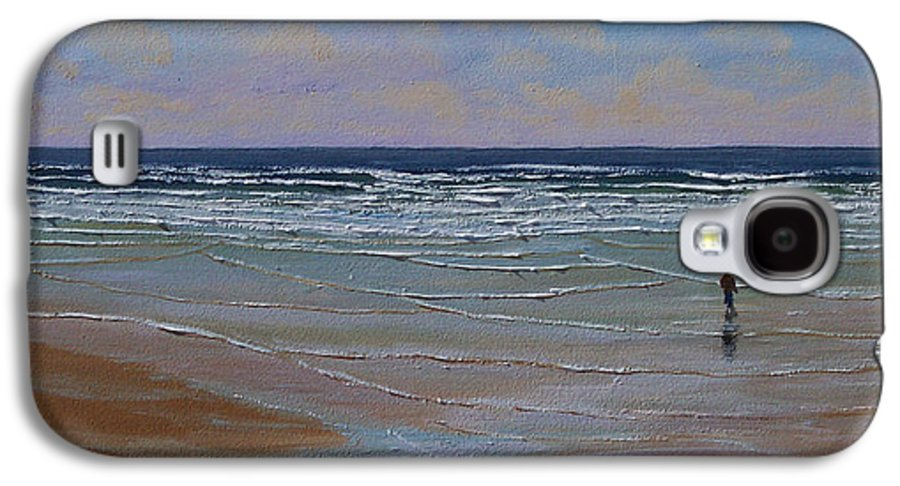 Seascape Galaxy S4 Case featuring the painting The Surf Walker by Frank Wilson