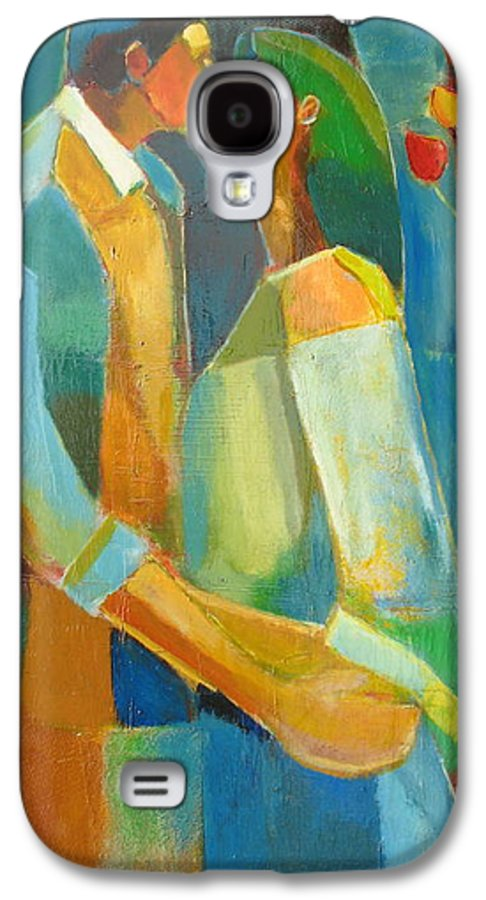 Love Abstract Galaxy S4 Case featuring the painting The Sweet Kiss by Habib Ayat