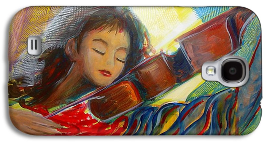 Violin Galaxy S4 Case featuring the painting The Sweetest Sounds by Regina Walsh