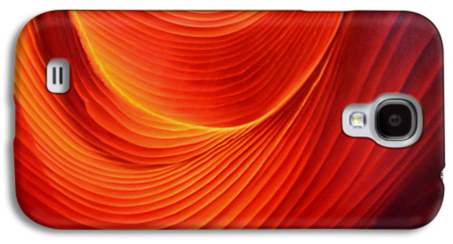 Antelope Canyon Galaxy S4 Case featuring the painting The Swirl by Anni Adkins