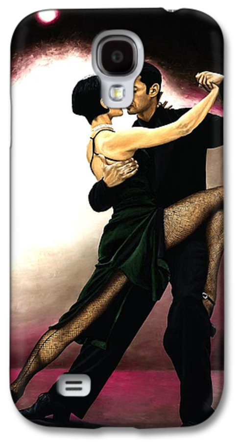 Tango Galaxy S4 Case featuring the painting The Temptation Of Tango by Richard Young