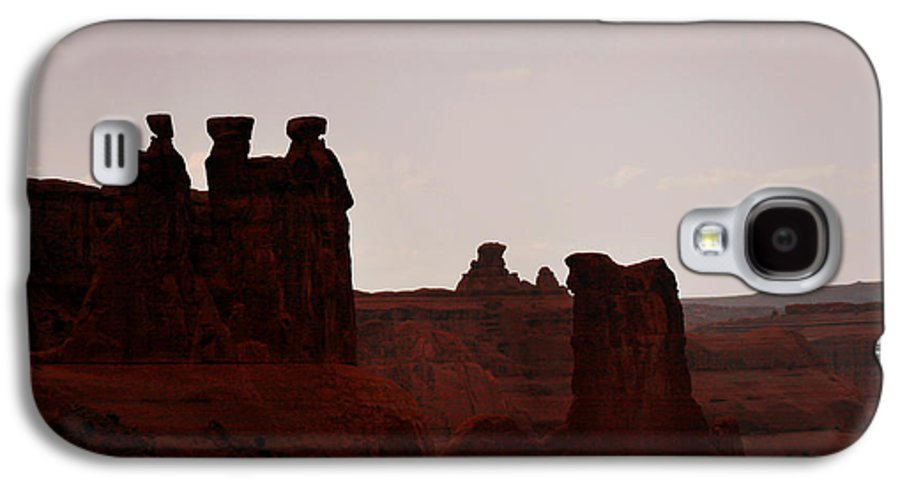 Landscape Galaxy S4 Case featuring the photograph The Three Gossips Arches National Park Utah by Christine Till