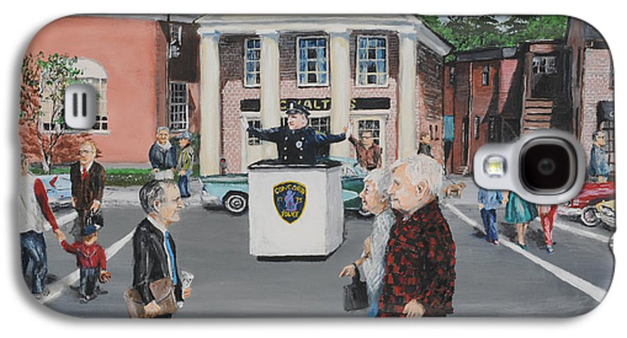 Police Galaxy S4 Case featuring the painting The Traffic Box by Jack Skinner