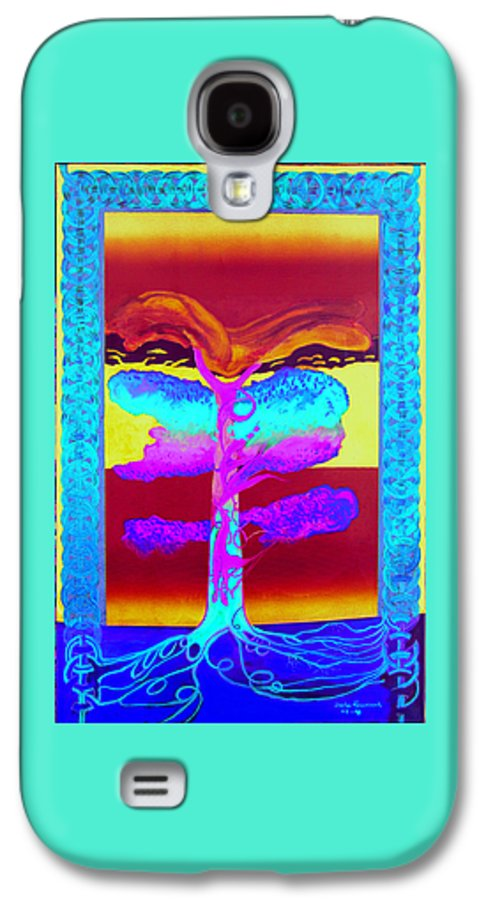 Myth/landscape Galaxy S4 Case featuring the painting The Tree Of Life. Norse Mythology. by Jarle Rosseland