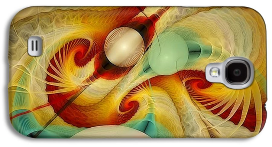 Fractal Galaxy S4 Case featuring the digital art The Truth Of Our Being by Gayle Odsather
