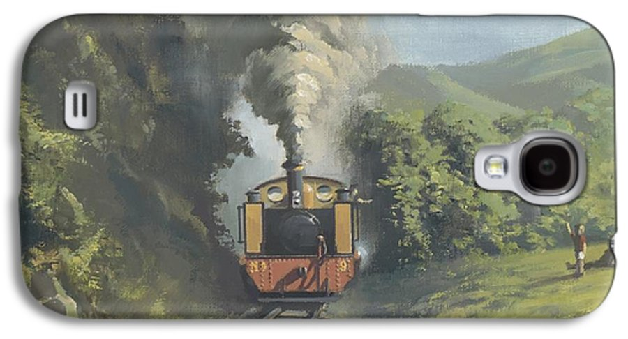 Steam Galaxy S4 Case featuring the painting The Vale Of Rheidol Railway by Richard Picton