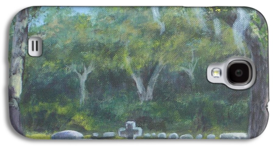 Landscape Cemetary Ghost Tree Florida Orlando Greenwood Galaxy S4 Case featuring the painting The Visitor 75usd by Karen Bowden