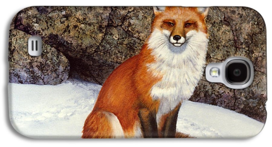 Wildlife Galaxy S4 Case featuring the painting The Wait Red Fox by Frank Wilson
