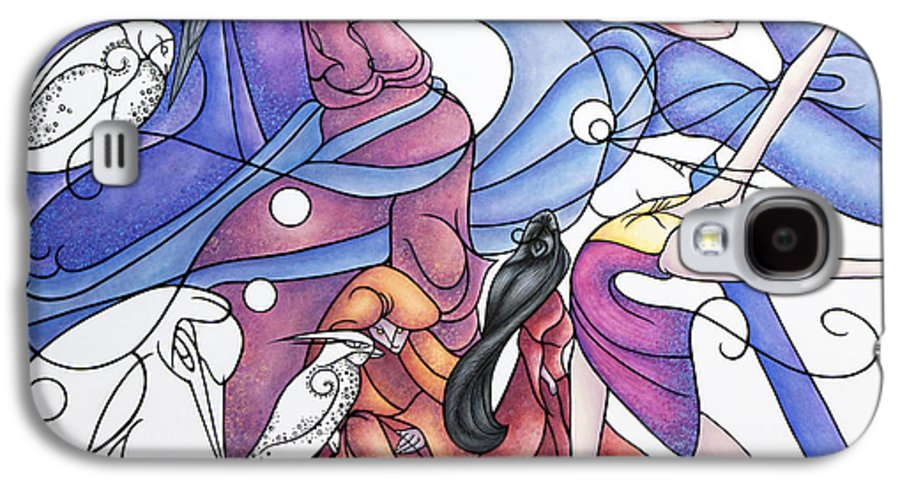 Wizard Galaxy S4 Case featuring the painting The Wizards Daughter by Judy Henninger