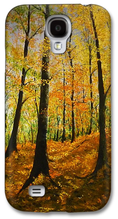 Fall Galaxy S4 Case featuring the painting The Wood For The Trees by Lizzy Forrester