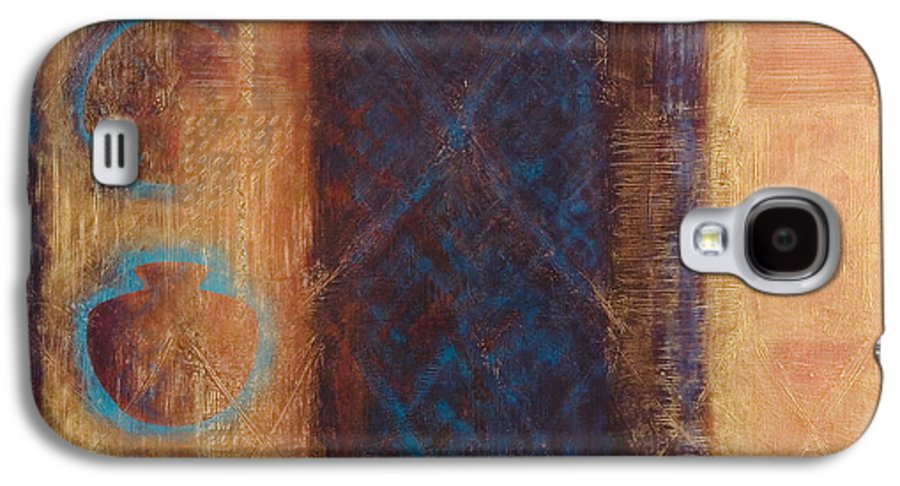 Abstract Galaxy S4 Case featuring the painting The X Factor Alchemy Of Consciousness by Kerryn Madsen-Pietsch