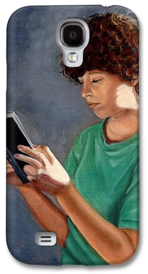 Portrait Galaxy S4 Case featuring the painting Thirst For Knowledge by Toni Berry